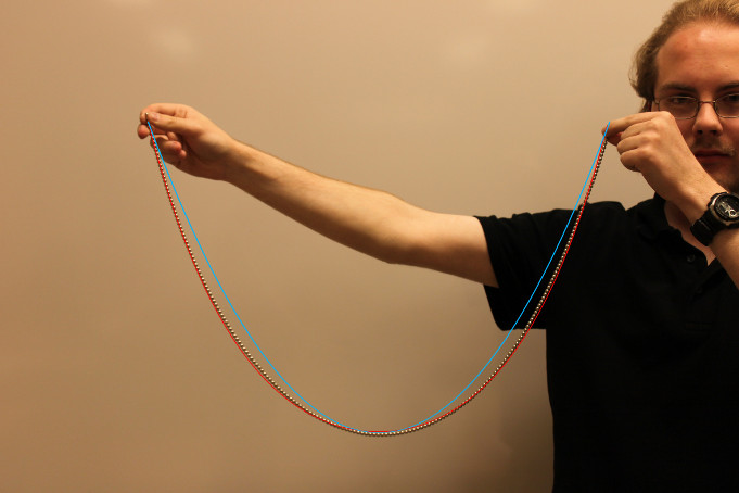 Andreas Rejbrand and a catenary, 2011