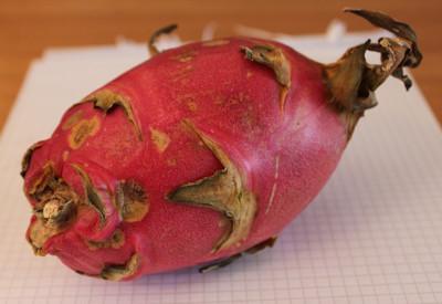 En röd drakfrukt