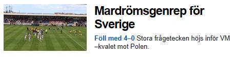Skärmdump från SVT.se