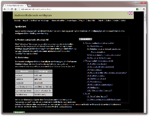 Screenshot of web page