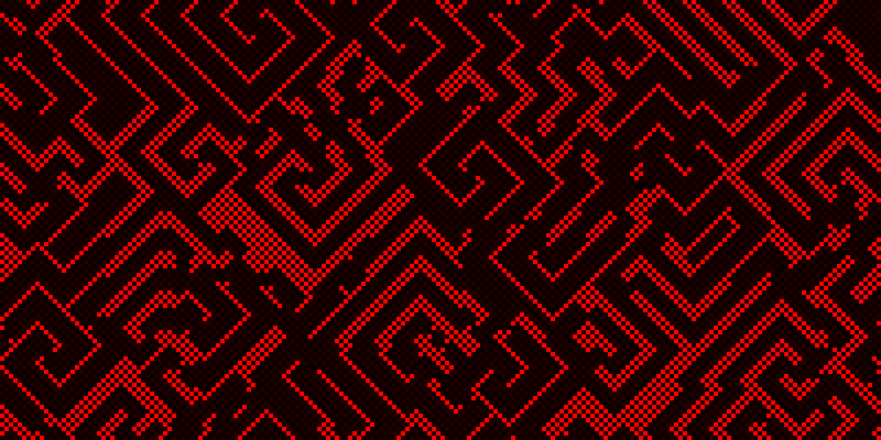 "The ""Floor plan"" cellular automaton."